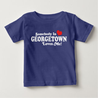 Somebody In Georgetown Washington Loves Me Baby T-Shirt