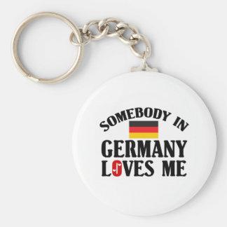 Somebody In Germany Basic Round Button Keychain