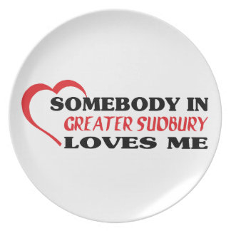 Somebody in Greater Sudbury loves me Plate