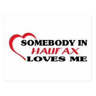 Somebody in Halifax loves me Postcard
