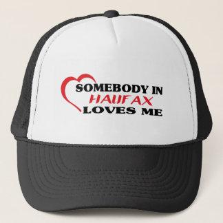 Somebody in Halifax loves me Trucker Hat