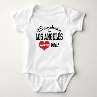 Somebody In Los angeles Loves Me Baby Bodysuit