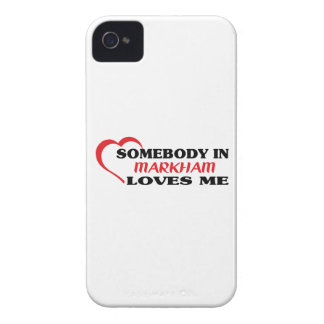 Somebody in Markham loves me iPhone 4 Case