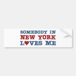 Somebody in New York Loves Me Bumper Sticker