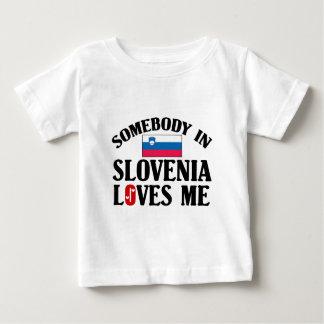 Somebody In Slovenia Loves Me Baby T-Shirt
