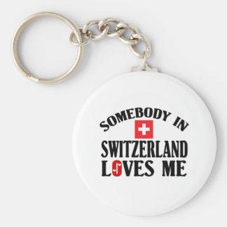 Somebody In Switzerland Keychain