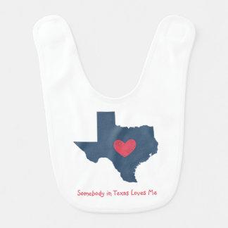 Somebody in Texas Loves Me Baby Bib