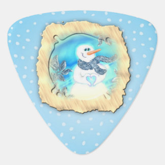 Somebody Loves You Emotional Snowman Guitar Pick