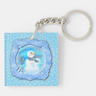 Somebody Loves You Emotional Snowman Keychain
