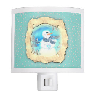 Somebody Loves You Emotional Snowman Night Lights