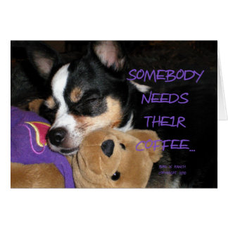 Somebody Needs Coffee Chihuahua Dog Cards