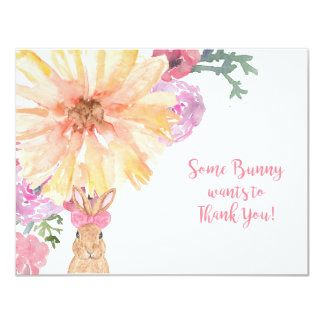 Somebunny Thank You Notes for Birthday or Easter Card