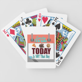 Someday I'll Be Skinny Bicycle Playing Cards