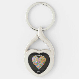 Someone Hearts You Twisted Heart Keychain
