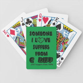 Someone I Love...C Diff Bicycle Playing Cards