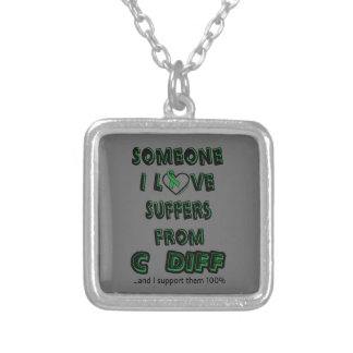 Someone I Love...C Diff Silver Plated Necklace