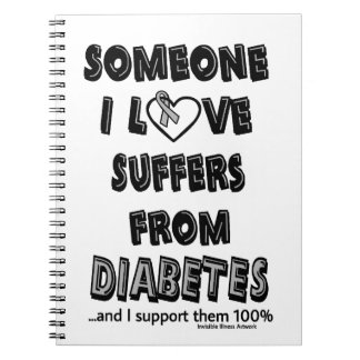 Someone I Love...Diabetes Spiral Notebooks