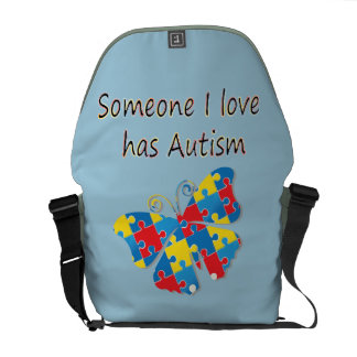 Someone I love has autism (multi) Courier Bags