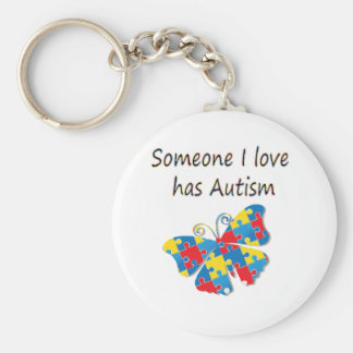 Someone I love has autism (multi) Key Chains