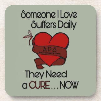 Someone I Love...Heart/Ribbon...APS Coaster