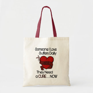 Someone I Love...Heart/Ribbon...APS Tote Bag