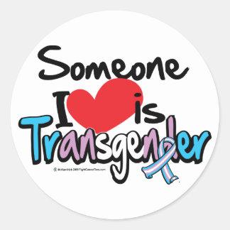 Someone I Love is Transgender Round Sticker