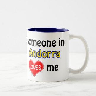 Someone in Andorra loves me Two-Tone Mug