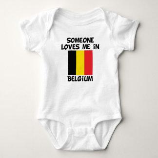 Someone In Belgium Loves Me Baby Bodysuit