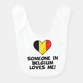 Someone In Belgium Loves Me Bib