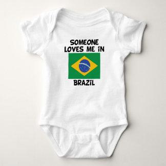 Someone In Brazil Loves Me Baby Bodysuit