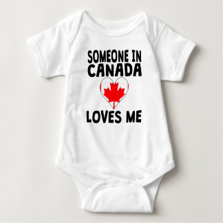 Someone In Canada Loves Me Baby Bodysuit