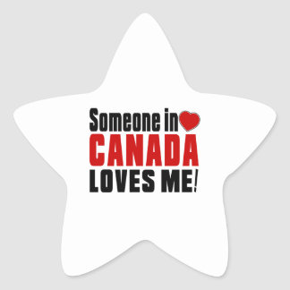 SOMEONE IN CANADA LOVES ME ! STAR STICKER