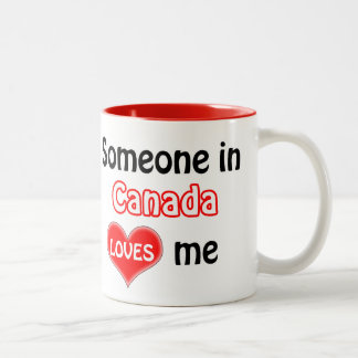Someone in Canada loves me Two-Tone Coffee Mug