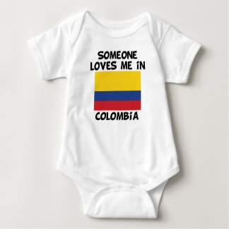 Someone In Colombia Loves Me Baby Bodysuit