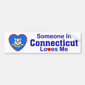 Someone In Connecticut Loves Me Bumper Sticker