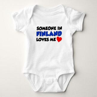 Someone In Finland Loves Me Baby Bodysuit