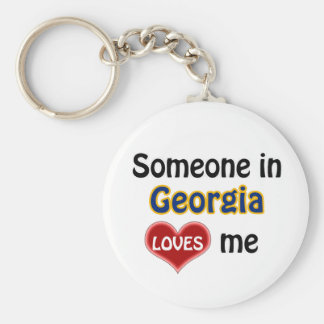 Someone in Georgia (US State) Loves me Basic Round Button Keychain