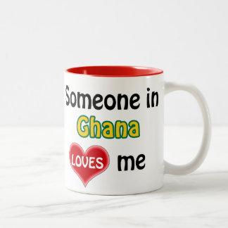 Someone in Ghana loves me Two-Tone Coffee Mug
