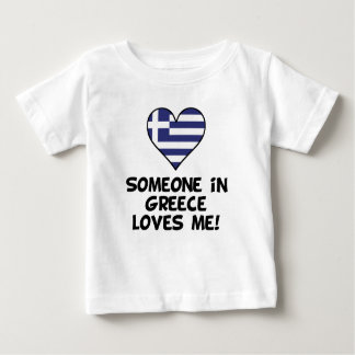 Someone In Greece Loves Me Baby T-Shirt