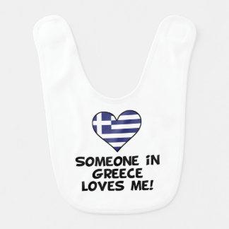 Someone In Greece Loves Me Bib