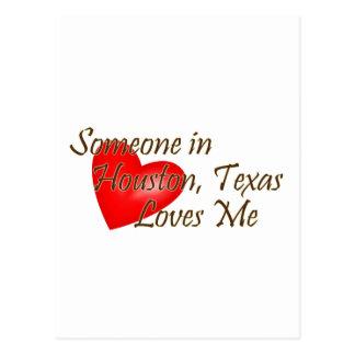 Someone in Houston Loves Me Postcard
