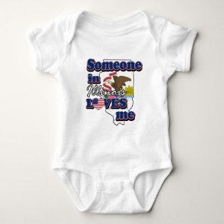 Someone in Illinois loves me Baby Bodysuit
