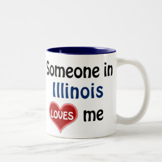 Someone in Illinois loves me Two-Tone Coffee Mug