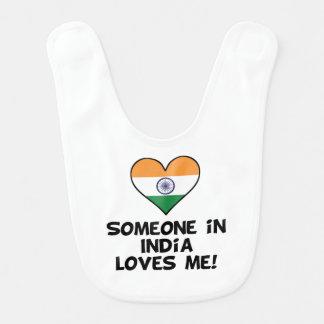 Someone In India Loves Me Bib