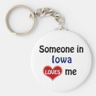 Someone in Iowa Loves me Keychain