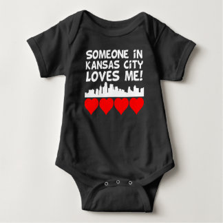 Someone In Kansas City Kansas Loves Me Baby Bodysuit