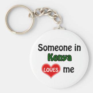 Someone in Kenya Loves me Keychain