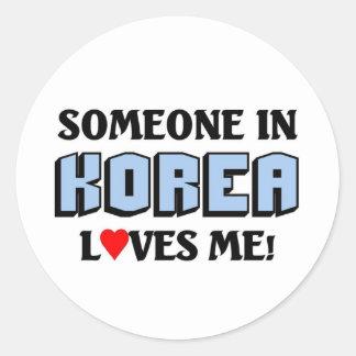 Someone in Korea Loves me Classic Round Sticker