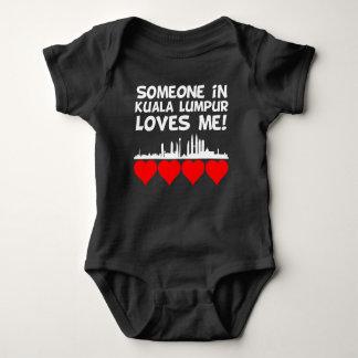 Someone In Kuala Lumpur Loves Me Baby Bodysuit