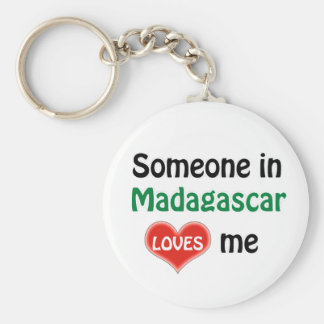 Someone in Madagascar Loves me Basic Round Button Keychain
